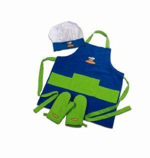 Kids Chef Hat Apron Set Curious Chef 4 Piece Child Chef