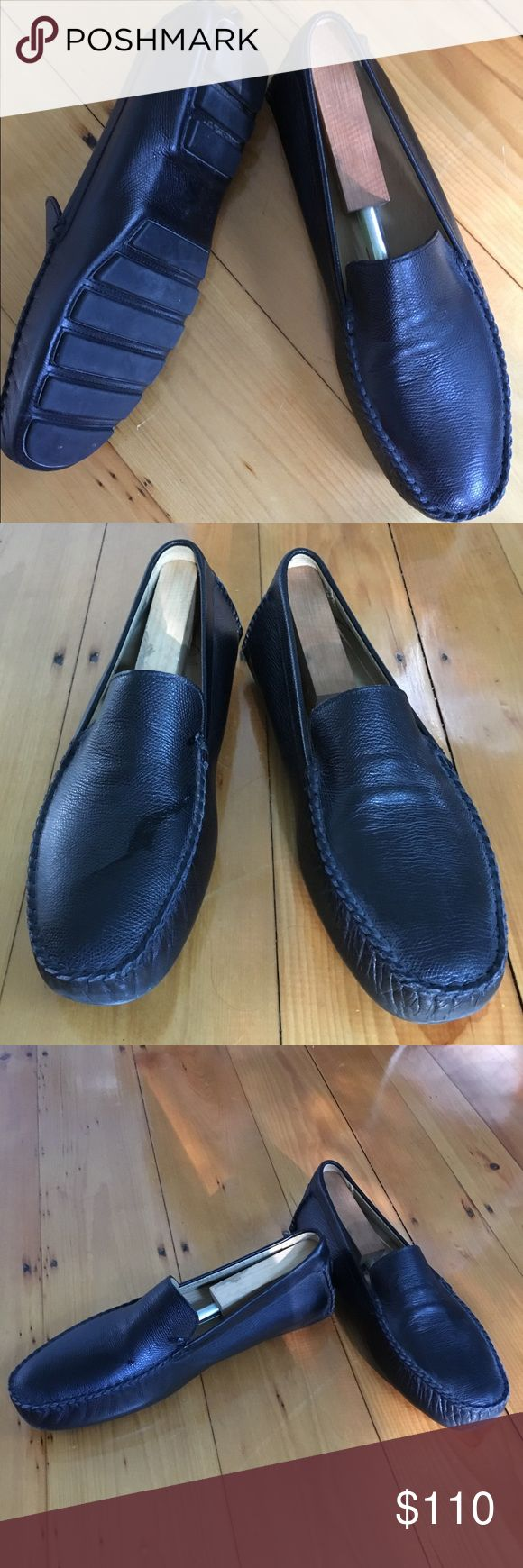 EUC Cole Haan Size 9 Men's Leather Slip-on Shoe Gorgeous (worn once to a rehearsal dinner) Cole Haan Made In Italy black genuine leather slip on loafer. Beautiful black leather in fabulous condition! Cole Haan Shoes Loafers & Slip-Ons