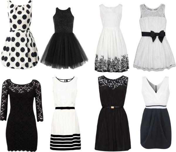 """Black and White Dresses."" by vebullock on Polyvore"