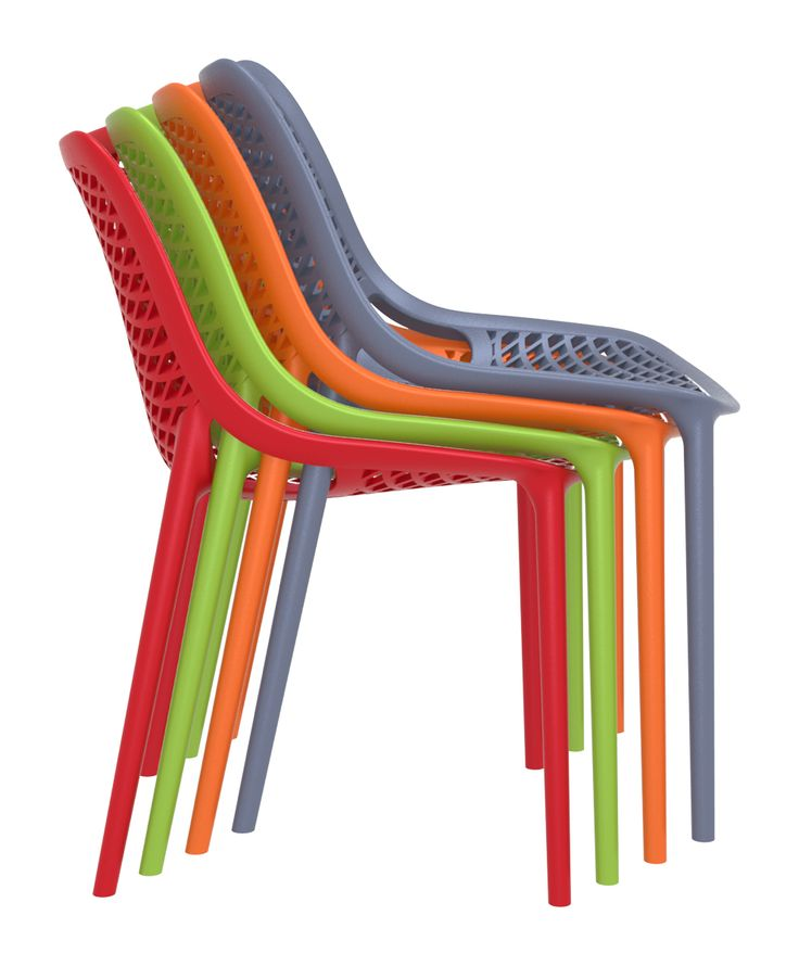 [Siesta Exclusive | Contract Collection | AIR Chair] Air chair is produced with a single injection of polypropylene reinforced with glass fiber obtained by means of the latest generation of air moulding technology with neutral tones. For indoor and outdoor use.