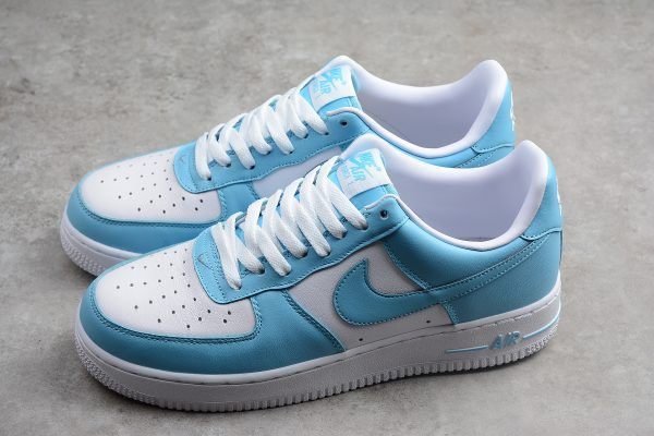 Details about Mens NIKE AIR FORCE 1 LO Blue Gale Trainers AQ4134 400