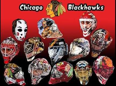 Goalie masks thru the years