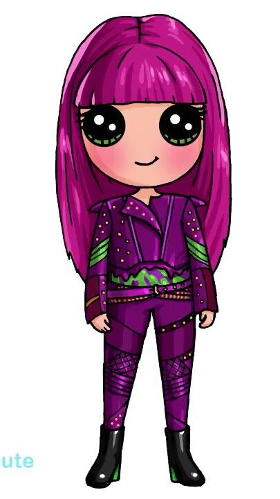Dessin Technique Gratuit Mal From Descendants 2.... | Technique De Dessin | Disney