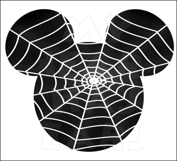 Mickey Mouse Spider web INSTANT DOWNLOAD Halloween digital clip art Printable DIY iron on transfer for t-shirts by My Heart Has Ears