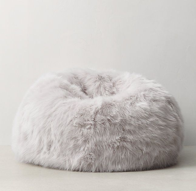 ❤️ Kashmir Faux Fur Bean Bag // restoration hardware