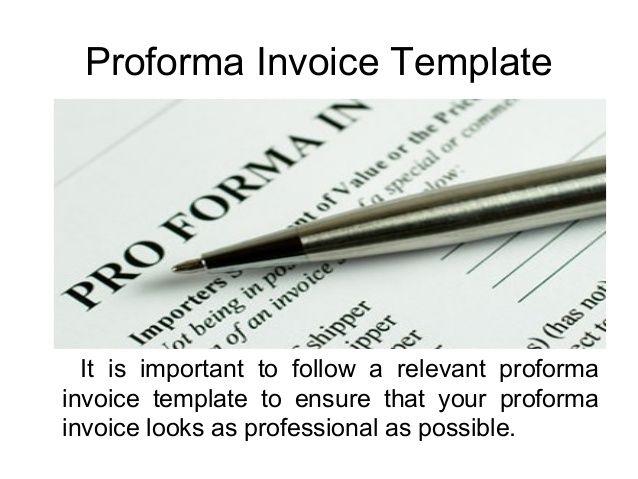 Proforma Invoice (proformainvoice) on Pinterest