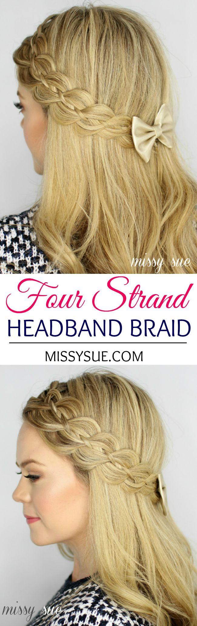 Four Strand Headband Braid, SO pretty!