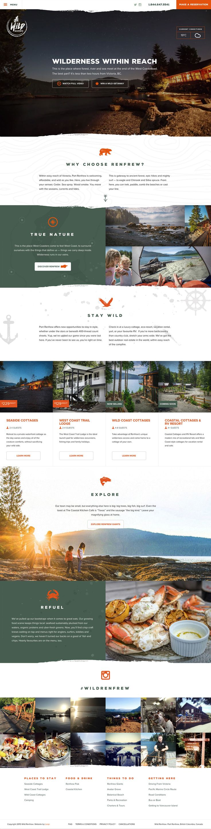 Wild Renfrew Website Design on Behance