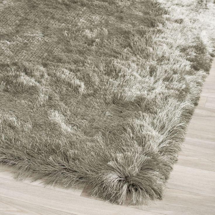 safavieh handmade silken glam paris shag titanium rug 5u0027 square by safavieh - Safavieh Shag Rug