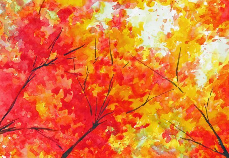 Watercolor Painting Autumn Leaves Japanese Maple Fall Leaves Original Art Australian Art Small Painting Unframed Art Small Art Wall Decor by JenzartPaint on Etsy