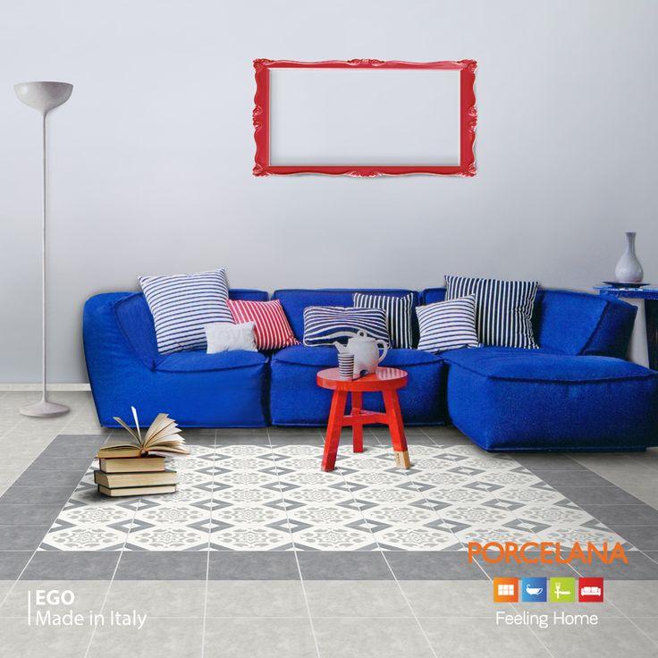 Το #retro #style έχει αναδειχθεί ως ένα από τα πιο ιδιαίτερα στιλ του #interior #design. Ακολουθήστε τη συγκεκριμένη τάση επιλέγοντας το ιταλικό δάπεδο Ego και δείτε τον χώρο σας να μεταμορφώνεται. #FeelingHome @ #Porcelana