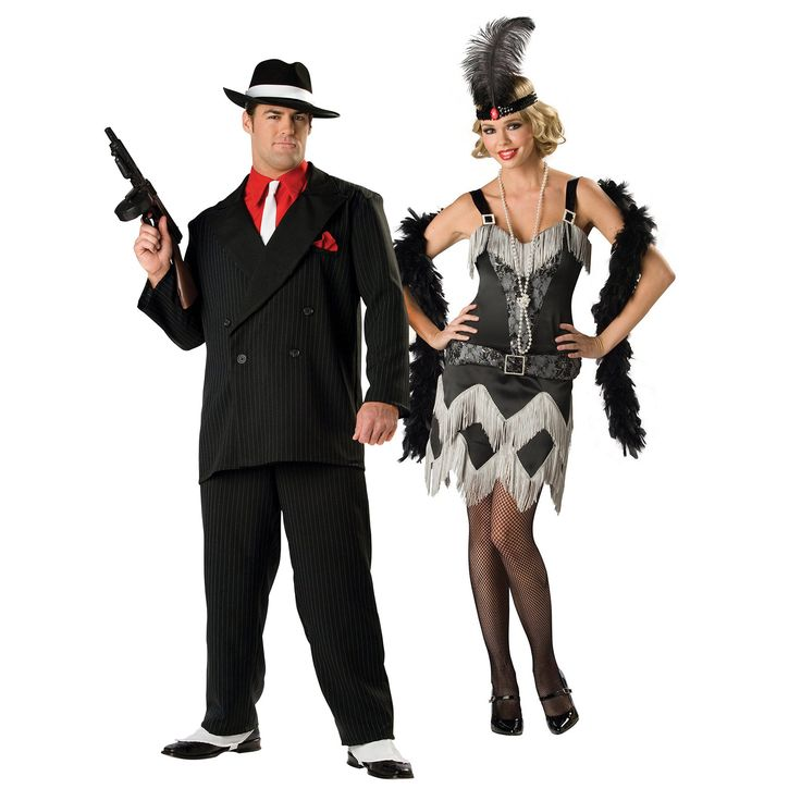 mobster themed weddings gangster charleston cutie couples costumes - Halloween Mobster Costumes