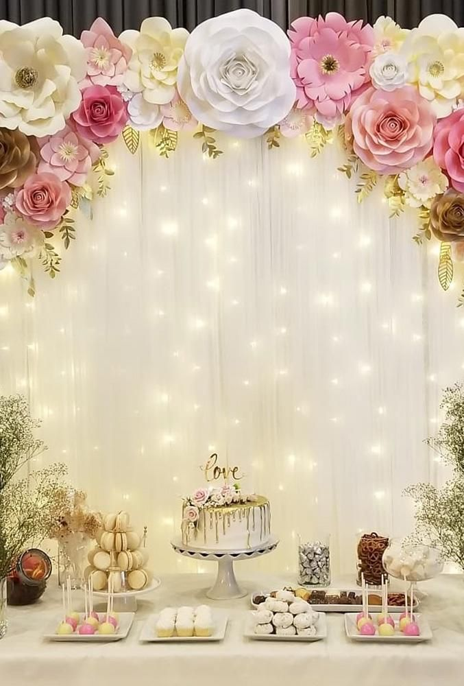 48 Most Pinned Wedding Backdrop Ideas 2020 Bridal shower decorations Quinceanera decorations