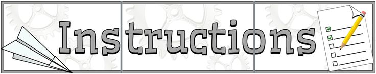 A 3-page (approximately A4) instructions title display banner with illustrations that reflect the simplicity and idea of following instructions. Ideal for setting the theme of this English/ literacy topic! Visit our TpT store for more information and for other classroom display resources by clicking on the provided links.