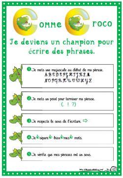 Ecrire des phrases des tableaux de champion de - Tableau pour ecrire ...