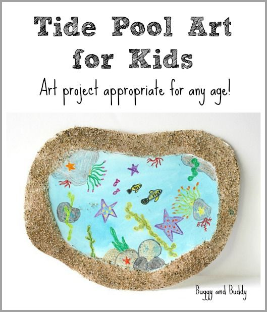 Tide Pool Art for Kids~ Buggy and Buddy, art activity for oceans, activity for Apologia Swimming Creatures # homeschool # preschool