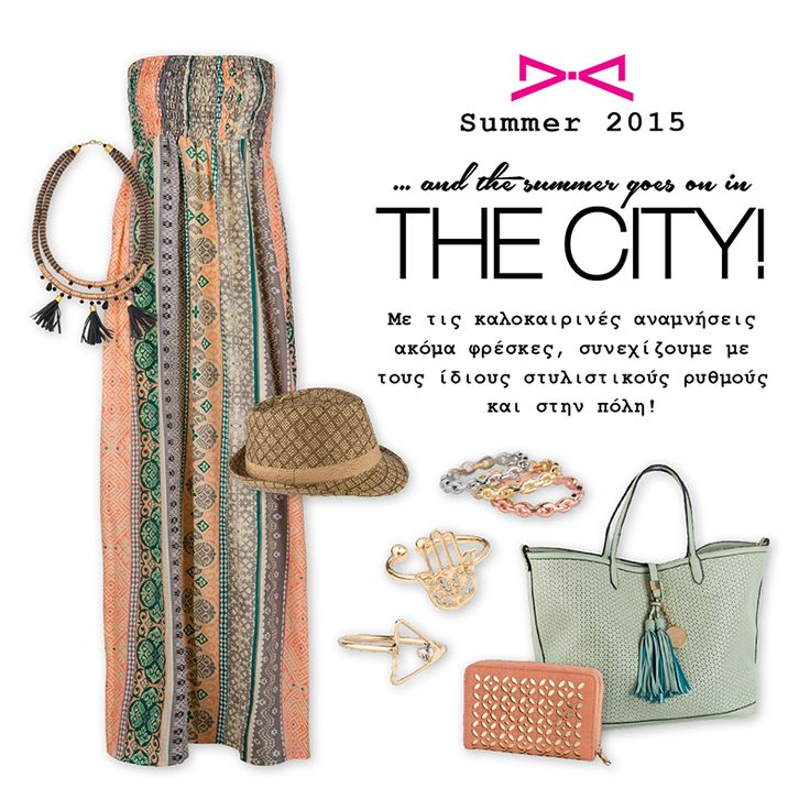 Wandering in the city but it is still summer? Keep on summering with fresh choices!  #achilleas_accessories