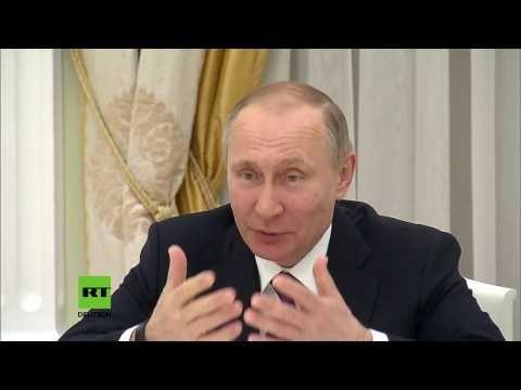"""Putin zu Gabriel: """"Wir müssen die deutsch-russischen Beziehungen wieder normalisieren"""" - YouTube"""