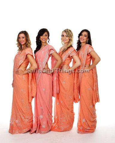 Indian Bridesmaid saris sarees dresses for rent or buy Rent Indian wedding clothes | Saris and Things