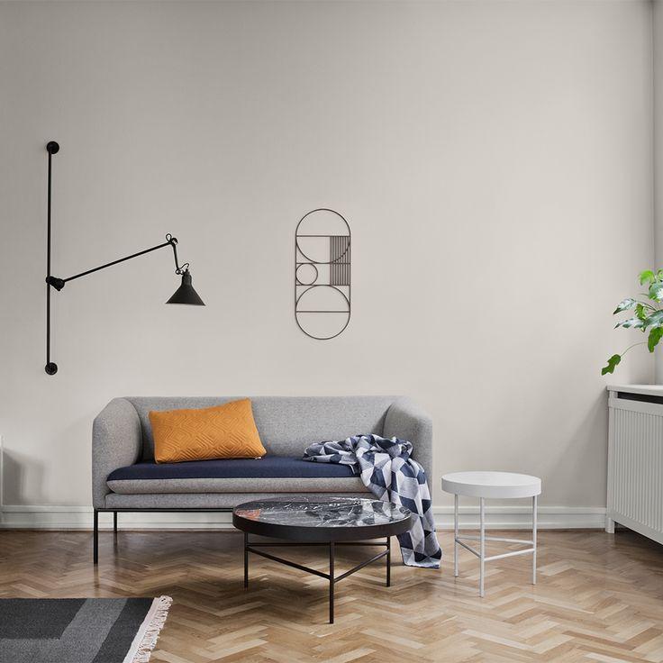Turn Sofa Cotton, Grey/Blue - Ferm Living - Ferm Living - Royal Design