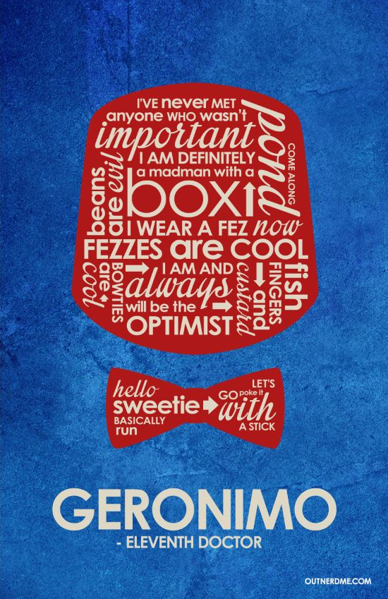Dr Who 11th Quote Poster