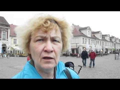 Protest in Potsdam gegen Massentierhaltung. Die Tierschützer hatten einen Riesenschwein vor dem Brandenburger Tor aufgeblasen...