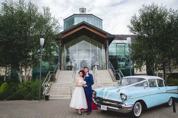 American Vintage Car - SmartGroom One of Ireland's premium wedding car hire companies. For more information check out www.smartgroom.com #weddingcar #americanvintagecar