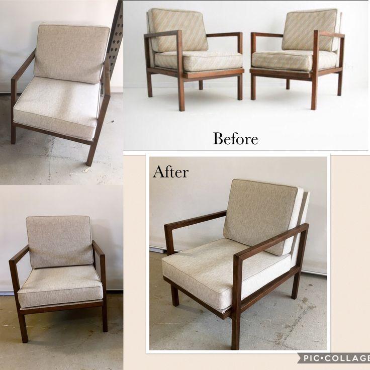 Reupholstered in Warwick fabrics. Dario Zoureff classic 70s !
