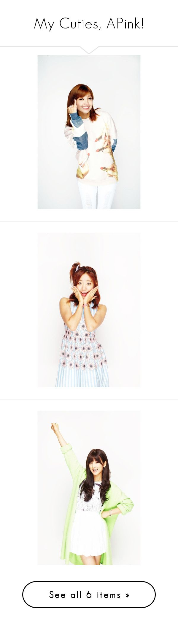 """My Cuties, APink!"" by xiuneytv ❤ liked on Polyvore"