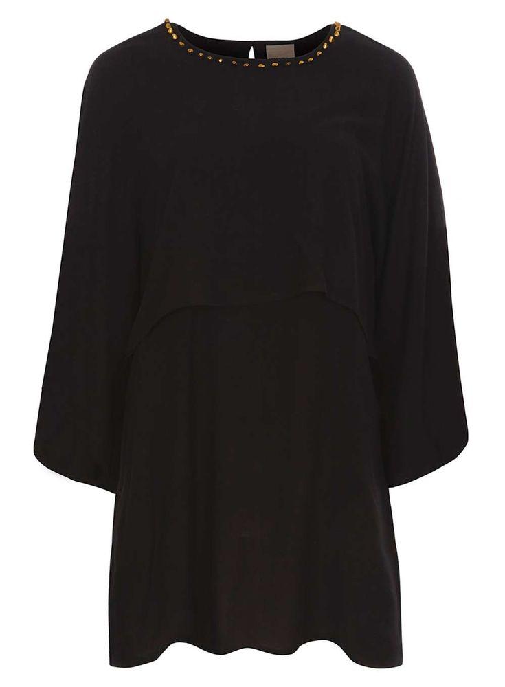 Womens **Vero Moda Black Stud Dress- Black