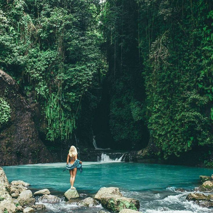 Sambangan natural pool, Bali, Indonesia. Don't forget when traveling that electronic pickpockets are everywhere. Always stay protected with an Rfid Blocking travel wallet. https://igogeer.com for more information. #igogeer