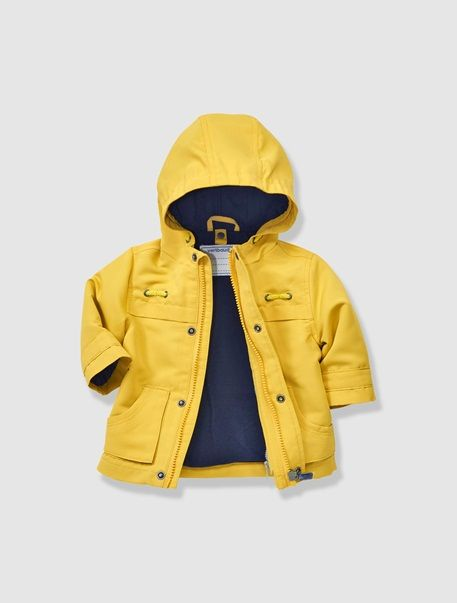 Baby Boy's 3-in-1 Duffle Coat Yellow / grey stripe