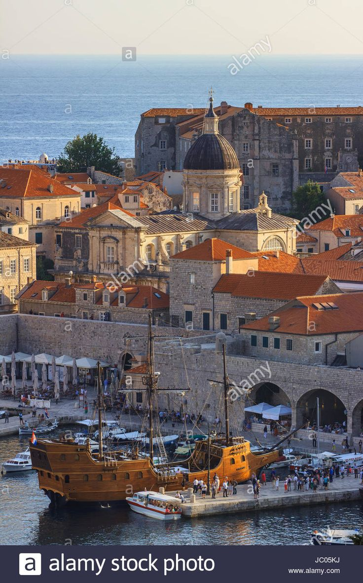 The Old Port of Dubrovnik, Croatia - JC05KJ from Alamy.