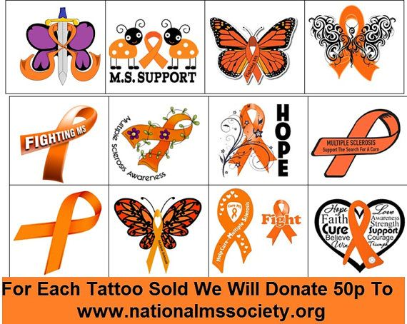 Multiple sclerosis Temporary Tattoo by Kazcreationz on Etsy