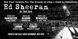 Ed Sheeran UK Tour 2018 Tickets – Click & Shop Blog