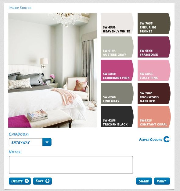 Great info on how to create a design board ~ Chip It colors: Entryway