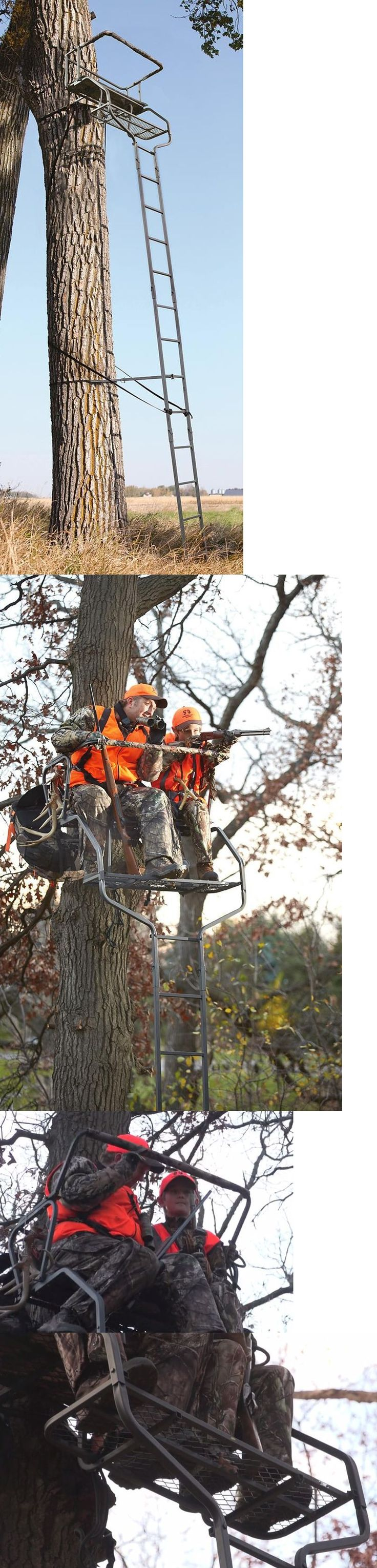 Tree Stands 52508: 18 2-Man Ladder Tree Stand Deer Hunting Platform Cross Bow Archery Rifle New -> BUY IT NOW ONLY: $147.95 on eBay!