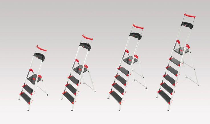 Hailo EasyClix XXL Stufen mit Ausziehbarem Sicherheits-Haltebügel, Alu-Sicherheits-Haushaltsleiter Championsline, 225 kg | markenbaumarkt24