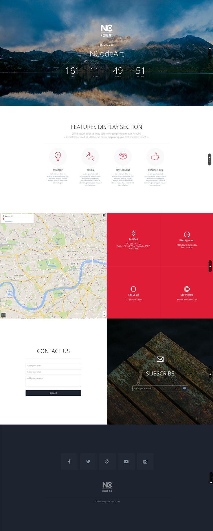 50 besten HTML Coming Soon Template Bilder auf Pinterest | Bau, Mock ...