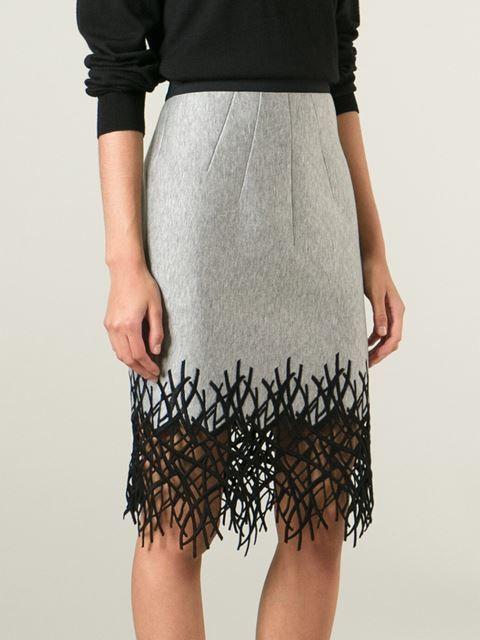 Aquilano.rimondi Crochet Branch Hem Skirt - Degli Effetti Women - Farfetch.com