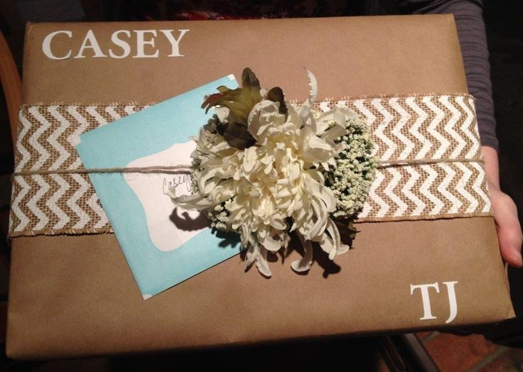 Ideas For Wrapping Wedding Gifts: Bridal Shower Gift Wrapping #bridalshowergiftwrap