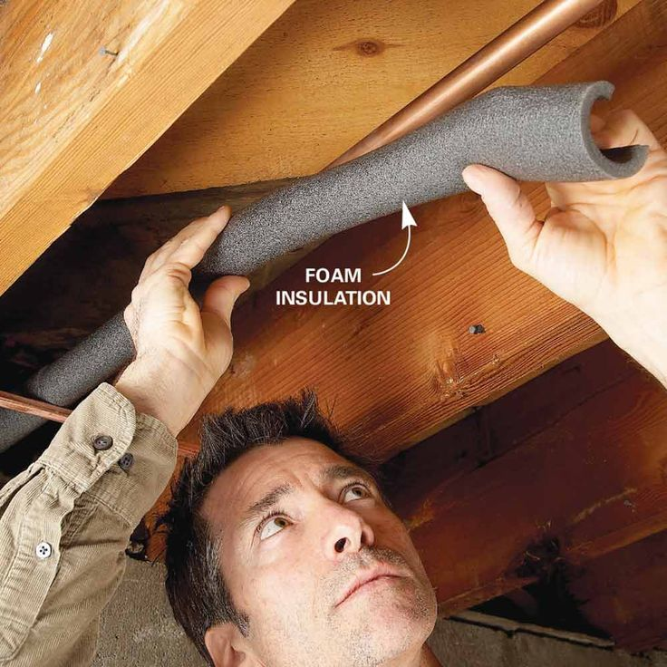 Condensation dripping from cold pipes can contribute to basement water problems. Cover cold water pipes with foam pipe insulation to stop condensation. The foam insulation is inexpensive and easy to cut with scissors.