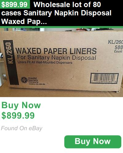 Sanitary Napkins 180947: Wholesale Lot Of 80 Cases Sanitary Napkin Disposal Waxed Paper Liner Bag Kl-260 BUY IT NOW ONLY: $899.99