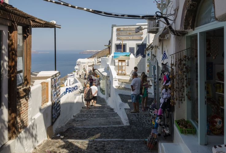 For shopping around Fira with amazing volcanic view! #Santorini