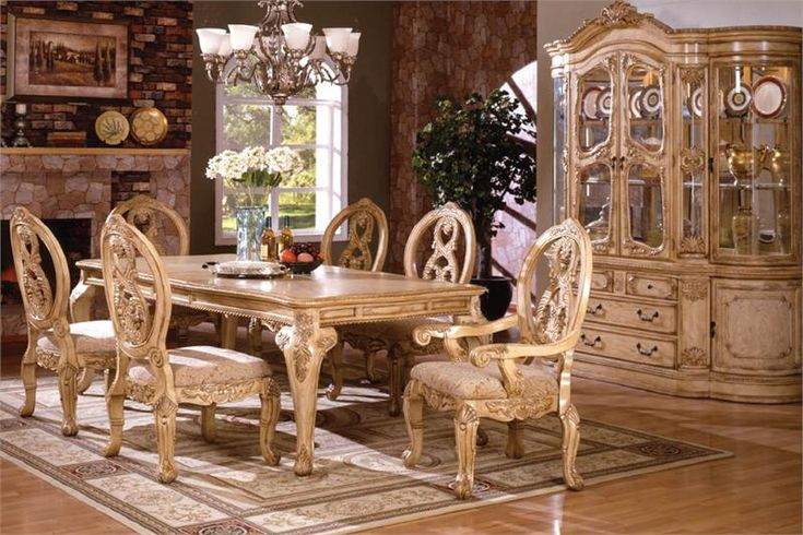Fancy Oval Dining Sets 96 Quot Tuscany Antique White Wash