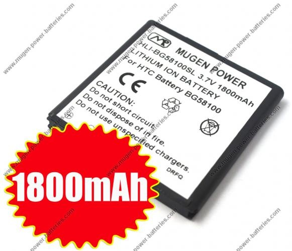 [HLI-BG58100SL] Buy Mugen Power 1800mAh Extended Battery for T-Mobile MyTouch 4G Slide (HLI-Z710ESL) $44.95  #android #htc #batteries #phones