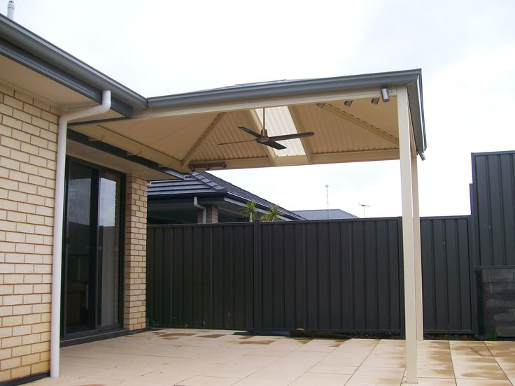 patio designs - hipped roof