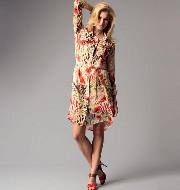 Butterick 5897 Misses'/Women's Top, Dress, Belt, Shorts, Pants and Slip