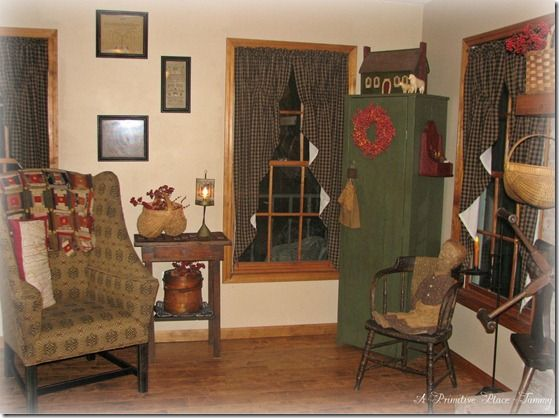 87 best images about primitive style living rooms on for Primitive country living room ideas