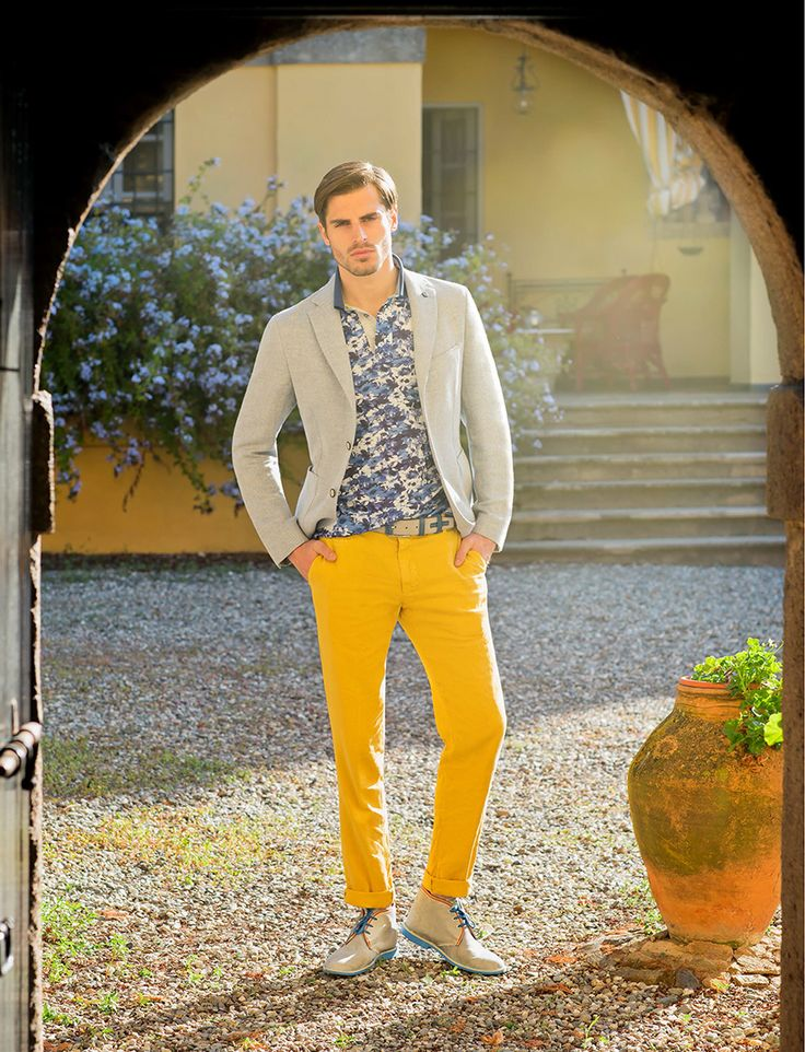"Saffron is the ""MUST"" color of summer, don't lose the ‪#‎pants‬ ‪#‎AngeloNardelli‬  ⇨ https://store.angelonardelli.it/index.php?route=product/product&path=25&product_id=204"